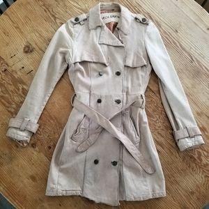 Giorgio Brato Mushroom Trench Coat Lamb Leather 42